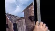 S07 Радостта на живописта с Bob Ross E12 - сцена от пристанищен док ღобучение в рисуване, живописღ