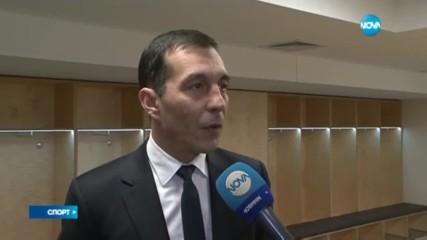 Ангел Петричев преди мача с Копенхаген