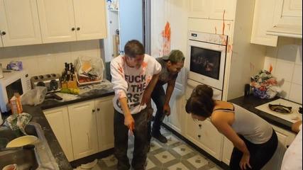 Яко бой в кухнята! (смях)
