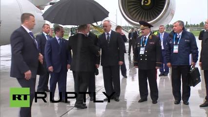 Russia: Putin arrives at Ufa for seventh BRICS summit