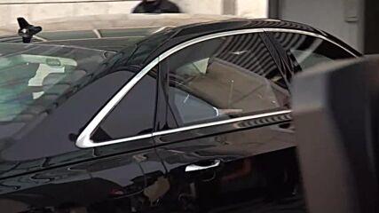 Germany: Laschet and Merkel motorcade arrives at CDU HQ in Berlin as coalition talks start