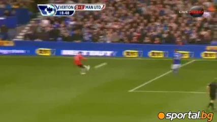Евертън - Манчестър Юнайтед 0:1 29.10.2011