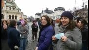Протест на библиотекари и служители на музеи