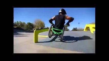 Дори и в инвалидна количка да си имаш ли желание за нещо можеш да го постигнеш !