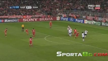 Байерн Мюнхен 2 - 1 Манчестър Юнайтед 1/4 - финал Шампионска Лига (30.03.2010)