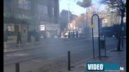 София стана военна зона, екшън и бомби на Попа (ексклузивни кадри Videonews.bg)