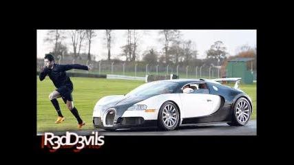 Cristiano Ronaldo Racing A Bugatti Veyron