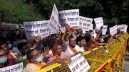 India: Protesters gather at Bangladesh embassy to decry violence against Hindus