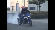 Quad Supermoto knallen burnout , stunt