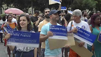 Brazil: Protesters pay tribute to slain councilwoman Marielle Franco in Rio