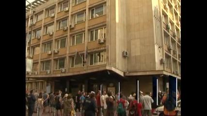 Протест против цените на тока и парното се проведе пред Министерство на икономиката