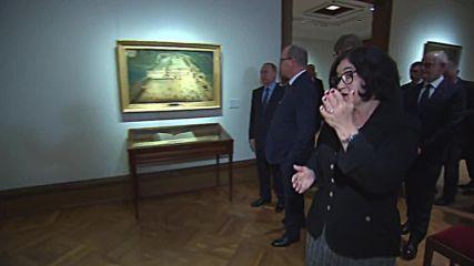 Russia: Putin entertains Prince Albert II of Monaco at the Tretyakov Gallery