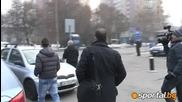 Пинто не говори след четири часа преговори с Левски