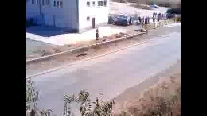 Рали Бургас 23.09.2012 Първата група. Изглед от моста.