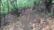 Каране на мотор по мазна пътека