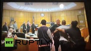USA: Courtroom brawl as murder suspect and witness clash