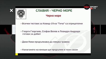 Славия започва защитата на 3-то място с тежък мач срещу Черно море