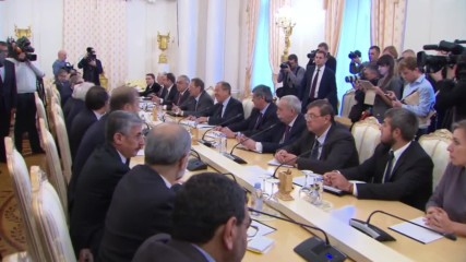 Russia: Lavrov holds trilateral talks with Syrian and Iranian FMs