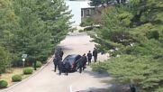 Korean DMZ: 12 jogging bodyguards escort Kim Jong-un's limo *CLEAN*