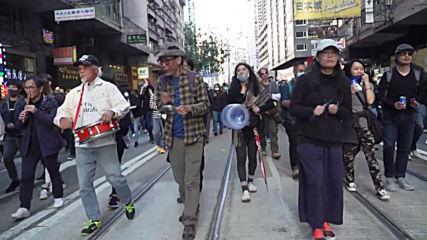 Hong Kong: Massive anti-govt. protest hits the city streets
