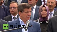 Turkey: PM Davutoglu calls for Russo-Turkish solidarity over air space dispute