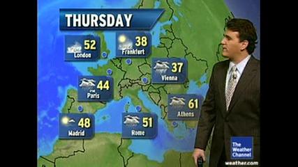 Времето Днес В Европа 18.12.2008