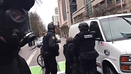USA: Police pepper-spray, detain 'Not My Presidents Day' protesters in Portland