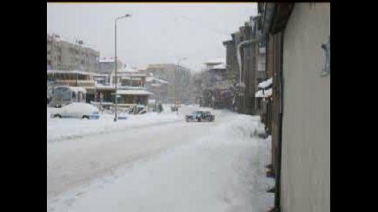 Bmw Дрифтира На Снега