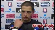 Chicharito Interview after Stoke City Game