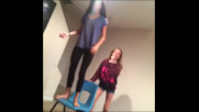 Vine - Girl Gets Pushed Off Chair