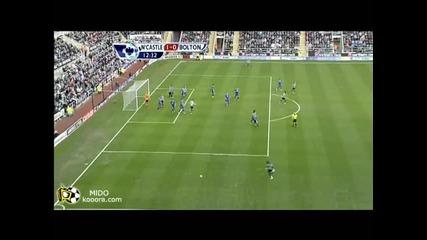 Нюкасъл - Болтън 1 - 0 гол на Нолан