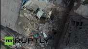 Ukraine: Drone captures devastating aftermath of Gorlovka shelling
