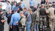 Ukraine: Right Sector clash with police outside Russian consulate in Odessa