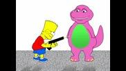 Bart Hate Barney