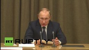 Russia: Putin discusses new defence plan with military officials in Sochi