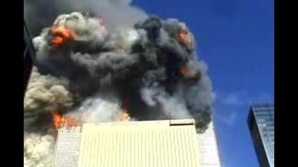 11 септември 2001 - Разбиването на втория самолет във кулите близнаци Wtc 9/11
