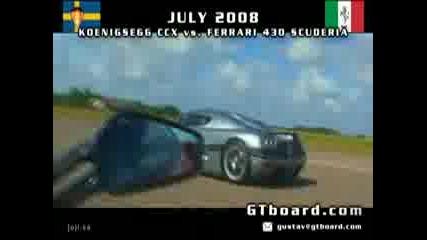 Koenigsecc Ccx vs Ferrari 430