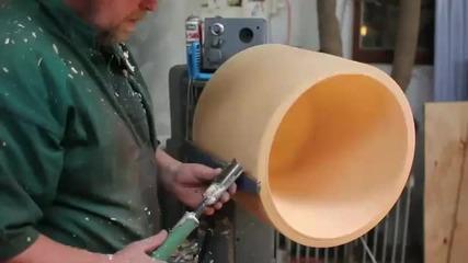 Домашна лампа от едно парче дърво !