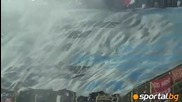 Левски 1 - 3 Ц С К А (26.02.2011) - Хореографията на червените и реакцията на публиката при гола!