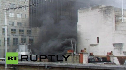 UK: Fire breaks out on London's Fleet Street near Goldman Sachs offices