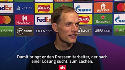 UK: Chelsea's Tuchel sings 'Under Pressure' whilst facing technical difficulties