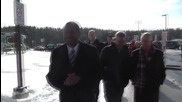 USA: Republican candidates Carson and Fiorina greet voters in New Hampshire