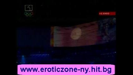 ВЕЛИК МОМЕНТ - запалването на олимпийския огън над стадион гнездо, при откриването на 29 олимпийски игри в Китай!!!08.08.08