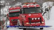 Terrible chute de poids lourd en Norv