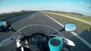 Много адреналин, скорост и тръпка с Bugatti Veyron, Yamaha R1 и една Honda Cbr600rr!