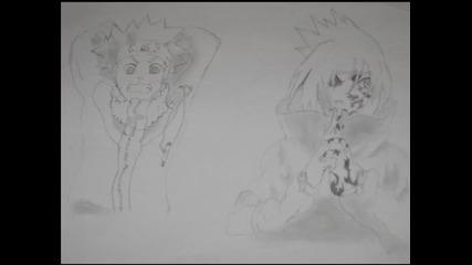Мои рисунки на герои от Наруто