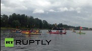 USA: 'Kayaktivists' greet Shell's icebreaker with protest in Portland