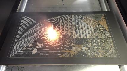 Красиво изкуство с модерен лазер