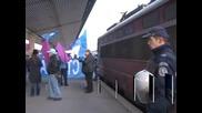 """Железничари отново на протест срещу приватизацията на БДЖ """"Товарни превози"""""""