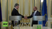 Ukraine: Schulz and Poroshenko meet for EU talks